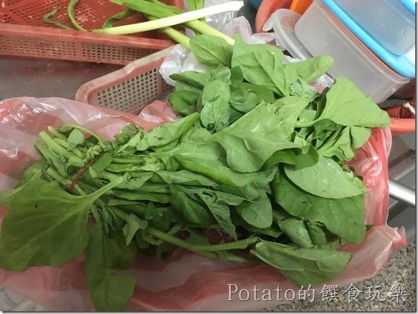 《食譜》 386 清炒甜菠菜佐雞肉   Potato的饌食玩樂(WP)
