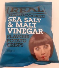 real handcooked sea salt malt vinegar