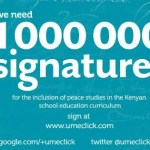 Umeclick – Campaign for inclusion of peace studies in schools
