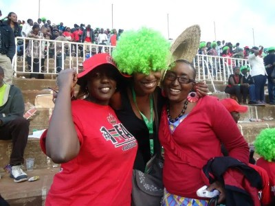 My friends and I at Safaricom Sevens.