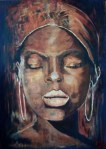 The beauty of an African woman (paintings) #IveGoThePower.