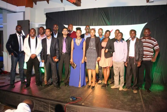 The winners of BAKE 2013 awards with some sponsors and BAKE officials.