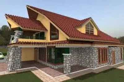 A model of a houses being built. Photo by David Ochola. http://davidchola.com/kenani-homes-buy-your-home-in-kenya/