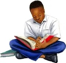 Boy reading. Image from www.Hajabar.com