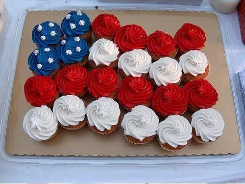Delicious cupcakes put together to show the flag of the US - Photo Credit - Philip Ogolla