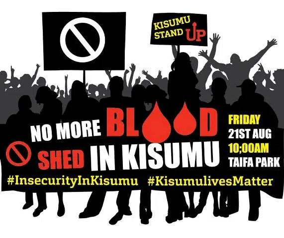 Insecurity in Kisumu. Residents are demanding for proper security