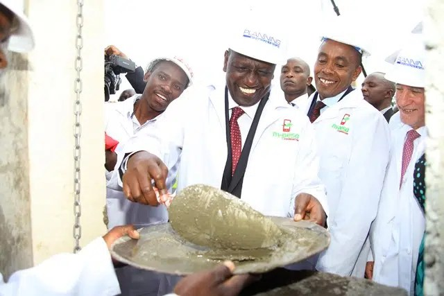 Deputy President William Ruto at the Mpesa Academy Construction Site. Picture courtesy of Safaricom.