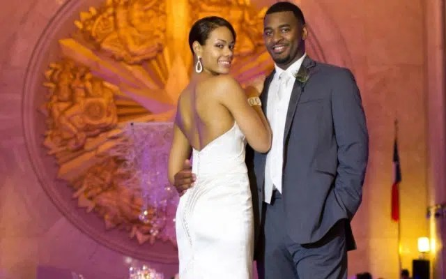 Wedding couple smiling on their big day. Photo from http://www.ebony.com/photos/style/bws-the-johnsons#axzz3hsQiNczo