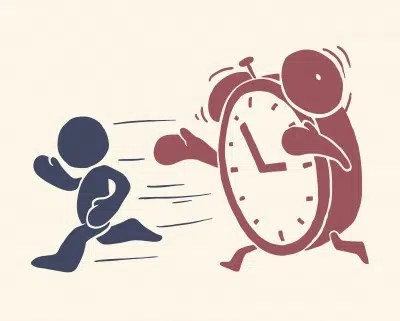Chasing time. Image from http://www.early-riser.com/how-to-wake-up.html