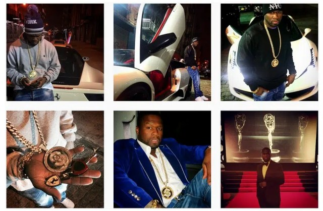 50 Cent - The celebrity leading in living a fake lifestyle. Image from http://blackmediascoop.com/i-take-the-cars-back-50-cent-says-his-lifestyle-is-fake/