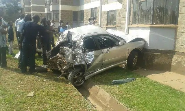 Car crash. Image from Mwende Maritim