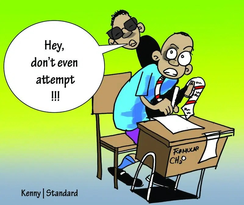 When parents and students conspire to cheat in exams, what kind of
