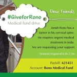 Johna Rono - Fighting cancer, one day at a time #GiveForRono