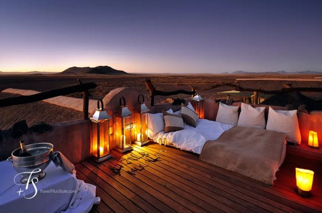 Accommodation at one of the hotels. Spend nights under the stars. Image from http://www.travelplusstyle.com/magazine/6-travel-things-that-made-us-happy-last-year-and-inspire-for-this-one