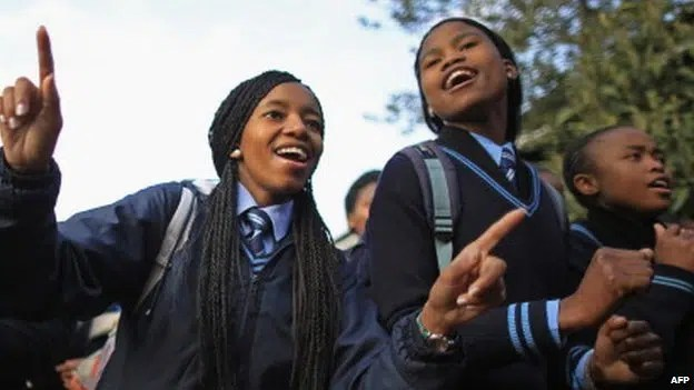 School girls having fun. Image from http://jide-salu.com/2014/01/29/bbc-poser-do-you-think-africas-young-population-presents-an-opportunity-or-a-risk-for-the-continent/
