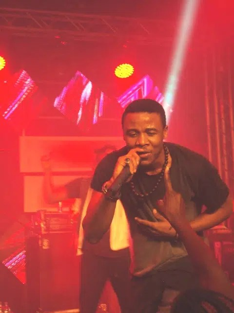 Ali Kiba singing to the fans