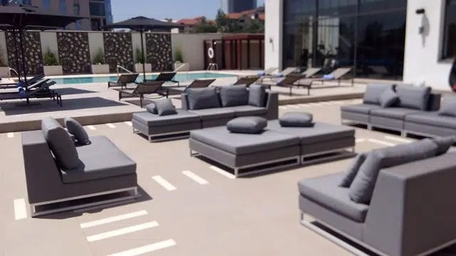 pool area Radisson Blu
