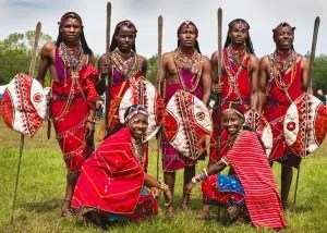 Oloip Maasai Dance Troop. Image from http://bushcraftfoundation.org.uk/