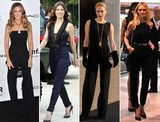 Famous people in jumpsuits. Image from http://nailartsdesign.com/6-best-womens-jumpsuits-designers-and-collections/