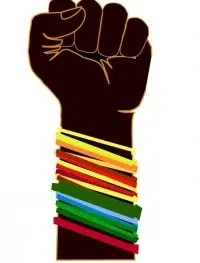 Black feminine fist. Image from http://criticallegalthinking.com/2013/10/21/white-feminist-fatigue-syndrome/
