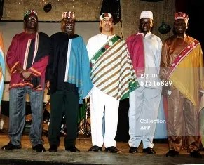 Some of the Narc Ministers in National dress. Image from http://artmatters.info/heritage-formerly-culture/2008/09/kenyas-sh50-million-national-dress-mirage-2/