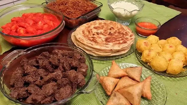 Various Kenyan dishes. Image from https://www.potentash.com/2016/03/29/travel-lamu-food-festival/