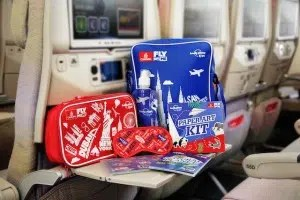 Fly with me Lonely Planet - Emirates bags.