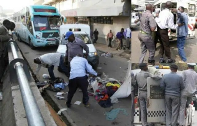 Nairobi County askaris harassing hawkers. Image from http://www.hivisasa.com/nakuru/business/129789