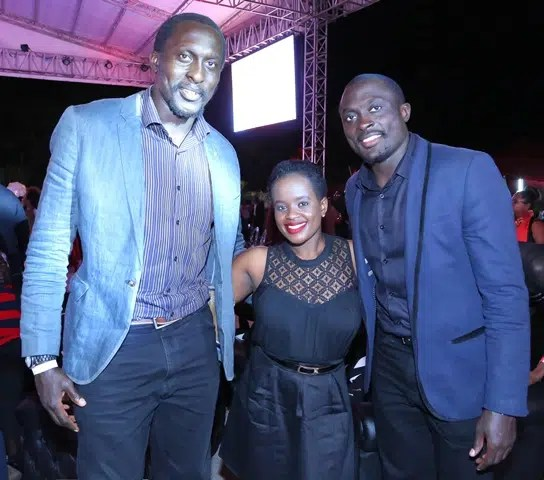 Humphrey Kayange, Carol Kibati and Collins Injera at the Blaze Party. Image courtesy of Safaricom.