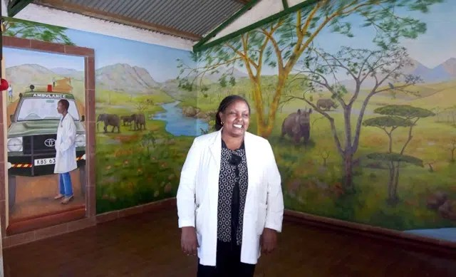 Faith Kobia, a Nursing Officer at the Lewa Clinic