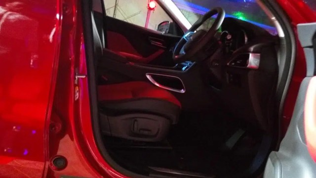 The Jaguar F Pace interior. Photo taken with the Tecno Canom C9