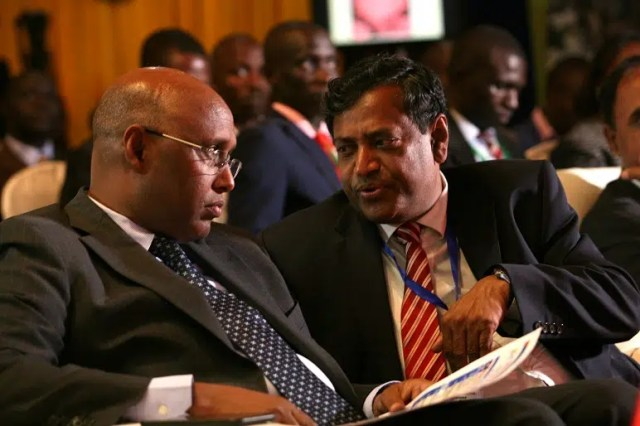 Cabinet Secretary in the Ministry of Industry, Trade and Cooperatives, Hon. Adan Mohammed and CAP YEI chairman, Mr. Samba Siva Rao