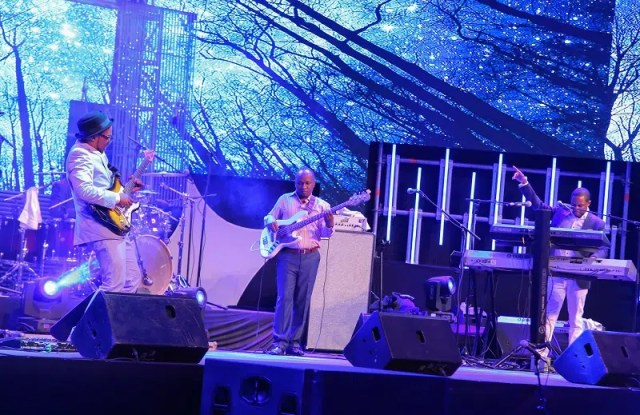Mwai and The Truth Band performing at Safaricom Jazz. Image courtesy of Safaricom.