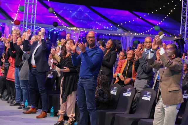 Safaricom CEO Bob Collymore at Safaricom Jazz. Image courtesy of Safaricom Jazz.