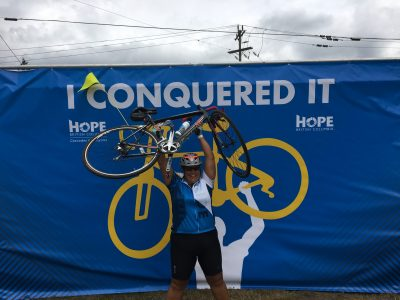 Tanja Halsall Ride to Conquer Cancer