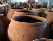 POTERIE DE TUNISIE Terre Cuite Jarres Amphores Vases