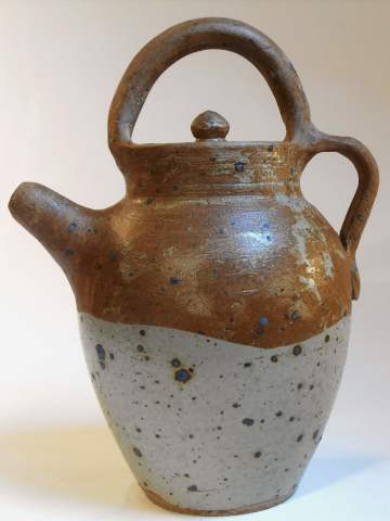 Two-tone brown pitcher