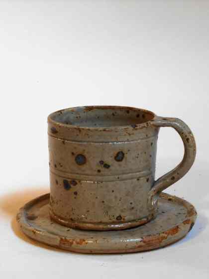 Tasse large et sous tasse verte
