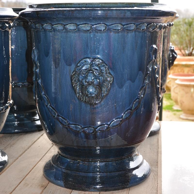 Poterie DAnduze Le Chne Vert Vase Languedoc Dcor Tte