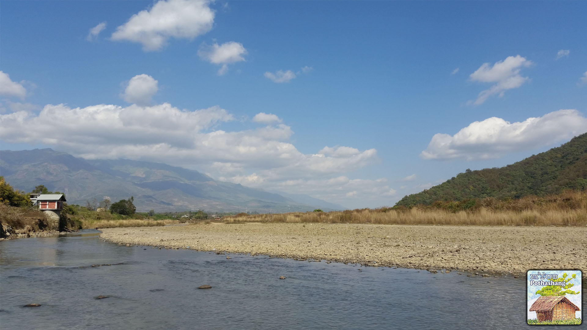 Landscape view of Sekmai River, Manipur