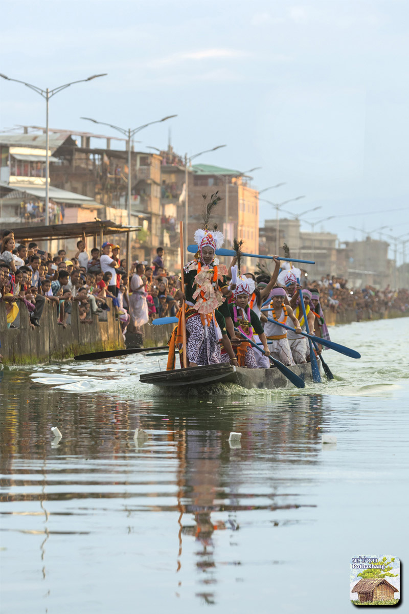 Hiyang Tannaba (boat race) on the day of Heikru Hidongba at Moirang Leima Thangapat, Manipur