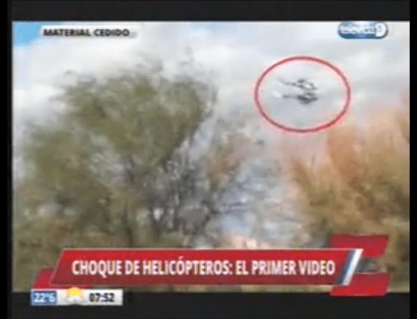 Choc : La vidéo de la collision des deux hélicoptères diffusée
