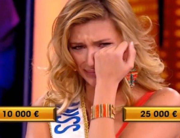 Camille Cerf, Miss France 2015, en larmes dans «A prendre ou a laisser»