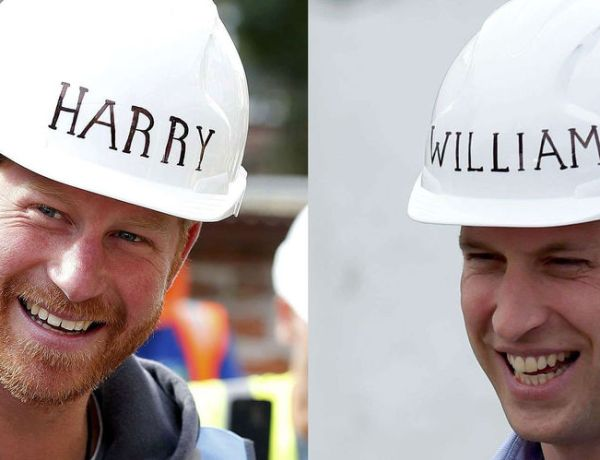 Harry et William, ouvriers royaux le temps d'une émission
