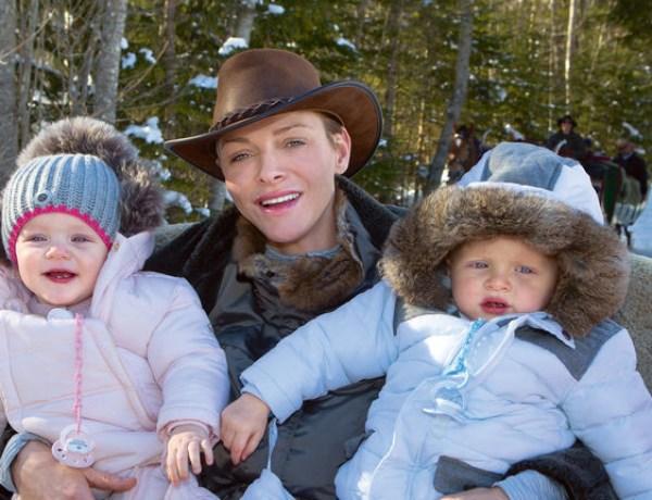 Charlène de Monaco en vacances au ski avec ses enfants mais sans le prince Albert