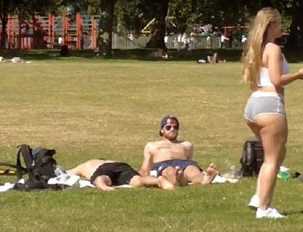 Une femme habillée légèrement à Londres provoque des réactions étonnantes