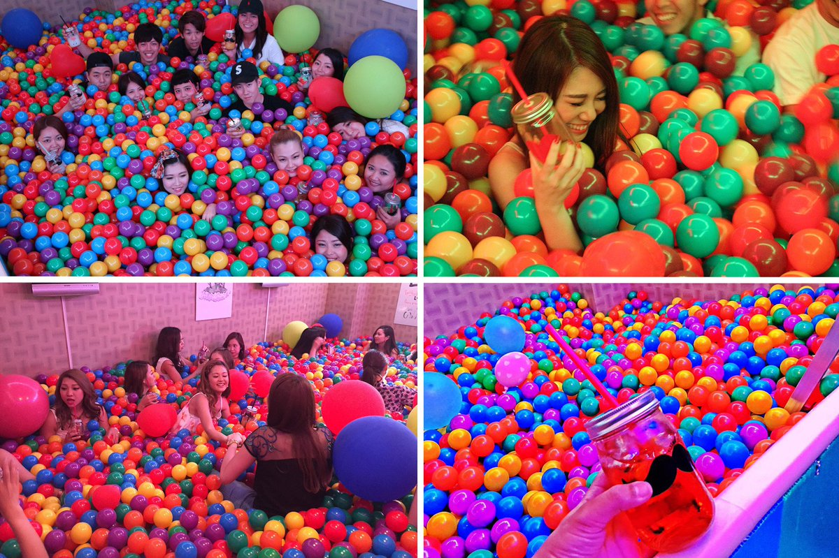 Japon : Une piscine à boules ouvre à Osaka !