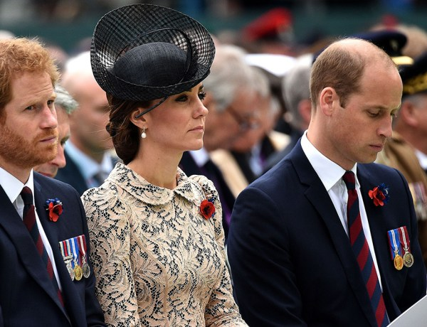 Kate Middleton, le prince William et le prince Harry en plein deuil