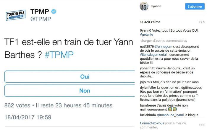 Yann Barthès se moque de « Touche pas à mon poste »