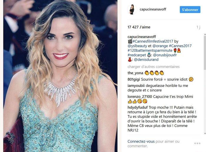 Cannes 2017 : Capucine Anav sans soutien-gorge lors d'une soirée à la Croisette !